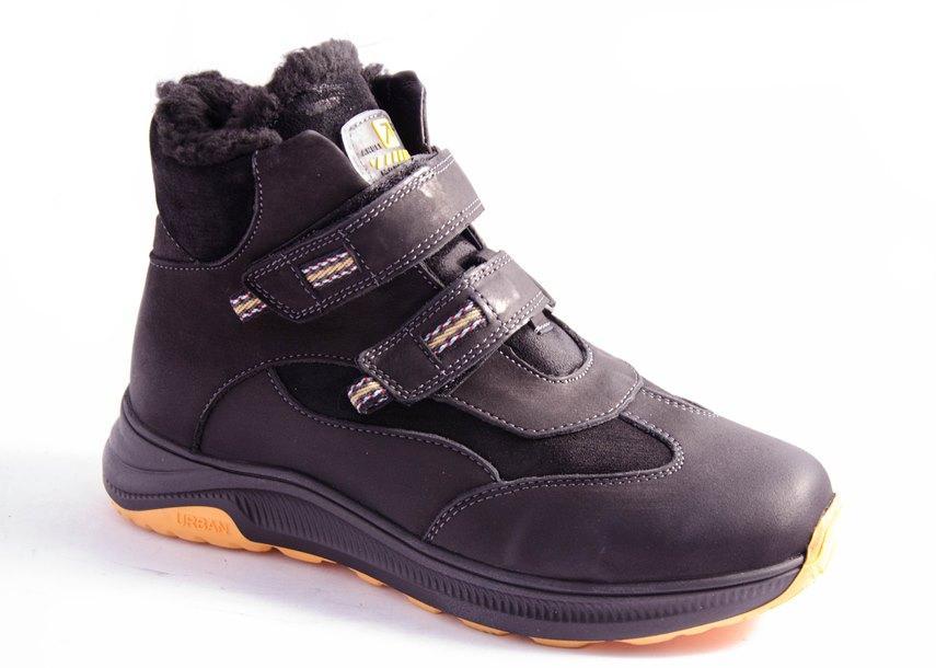 Ботинки подростковые черные Bistfor 16310/396