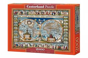 Пазли Castorland 2000 ел. Карта світу
