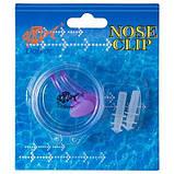 Силіконові беруші і зажим-кліпса для носа для плавання Dolvor (AC-3) Фіолетовий, фото 4