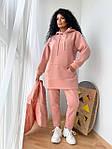 Женский костюм, трехнить на флисе,плащевка, р-р 42-44; 46-48 (розовый), фото 3