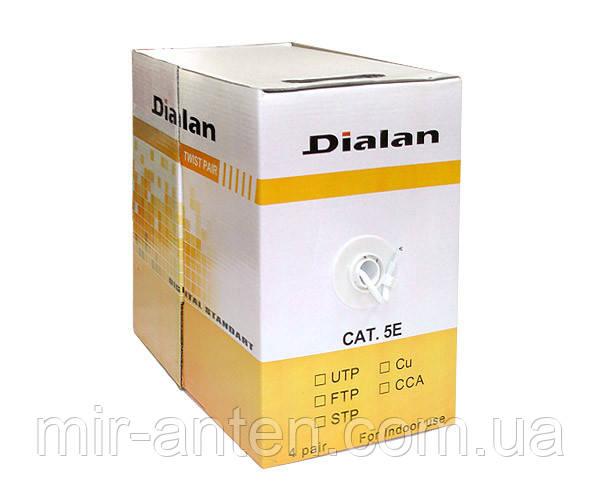 Кабель витая пара Dialan UTP Cat. 5E, 4PR, CCA, 0,48 мм, PVC, Indoor, 305 м.