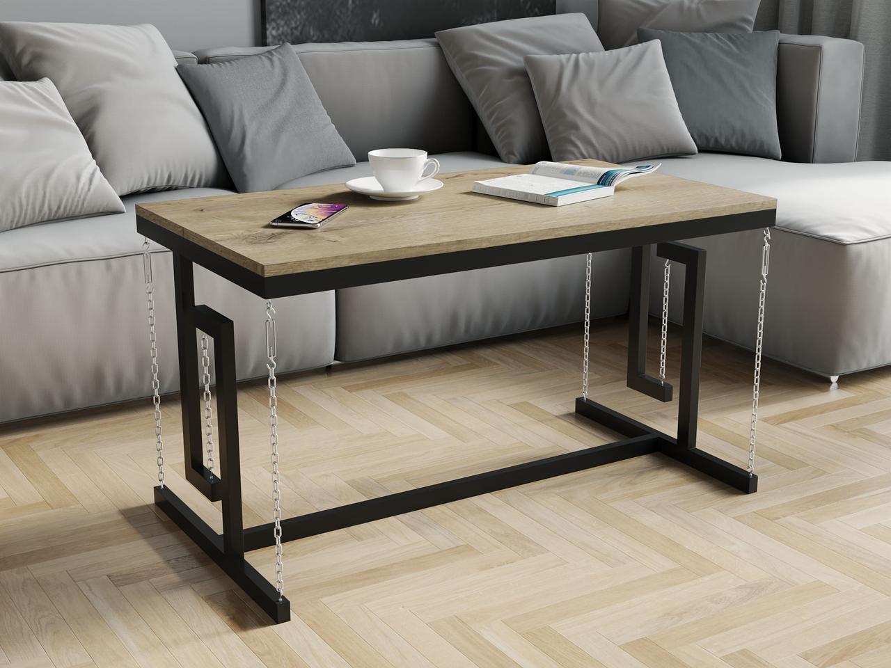 Журнальный столик в стиле лофт из ДСП. КОД: VZ-55