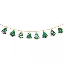 Гірлянди до нового року - довжина нитки 2,8-3м, 8 деталей із картону