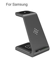 Бездротовий зарядний пристрій 3 в 1 Qi 15 ВтQi 15 Вт для Samsung S20 Ultra/S20/ Note 10/S10/S10 Plus/S9/S8, фото 1