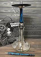 Кальян Voodoo Smoke Down - черно-синий Craft прозрачной