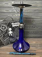 Кальян Voodoo Smoke Down - чорно-синій з колбою Craft синя