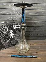 Кальян Voodoo Smoke Down - чорно-синій з колбою Drop прозора