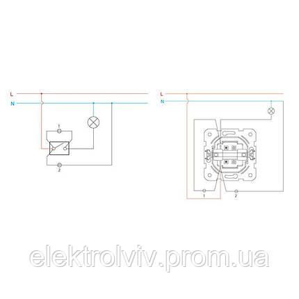 Выключатель 1-кл с подсветкой, фото 2