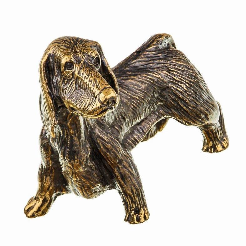 Фигурка бронзовая миниатюра Собака Такса