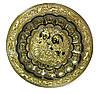 Тарелка настенная бронзовая