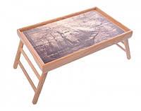 Столик для завтрака Парусник на фоне старинной карты