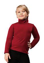 Гольф детский на флисе 02 бордо