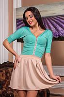 Женское короткое платье с короткими рукавами