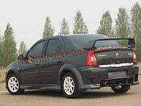 Задний бампер из стеклопластика для Renault Logan 2004-12