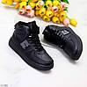 Зимние черные женские спортивные ботинки кеды на шнуровке в ассортименте, фото 9