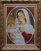 Схема для вышивки бисером Мадонна с младенцем (милосердие)