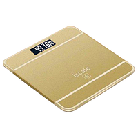 Електронні ваги підлогові iScale, 180 кг (0.1 кг), температура, золоті