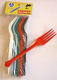 Одноразові виделки міцні (20шт в упаковці), фото 6