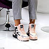 Спортивні миксовые рожеві жіночі черевики зимові кросівки снікерси, фото 2