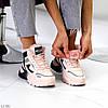 Спортивні миксовые рожеві жіночі черевики зимові кросівки снікерси, фото 5