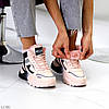 Спортивные миксовые розовые женские ботинки зимние кроссовки сникерсы, фото 5