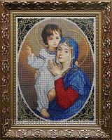 Схема под вышивку бисером Мадонна с младенцем (родость)