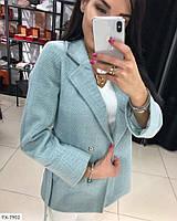 Короткое кашемировое пальто-рубашка женское стильное осеннее классическое на подкладке р-ры S, M, L арт. 522