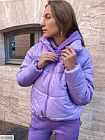 Тепла жіноча демісезонна куртка осінь-зима модна стильна на блискавці з коміром стійка арт. 10257