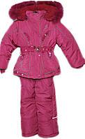 Детский зимний комбинезон с курткой на девочку