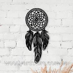 Декоративне панно з дерева. Декор на стіну. Ловець Снів