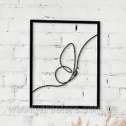 Декоративне панно з дерева. Декор на стіну. Лінійне панно Метелик - Крутелик