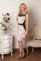 Женское эффектное платье прямого силуэта