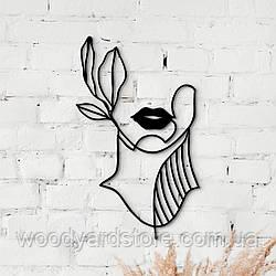 Декоративне панно з дерева. Декор на стіну. Дівчина - Загадка