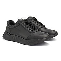 Кожаные кроссовки повседневные черные мужская обувь демисезонная Rosso Avangard Ada Sport Black Leather