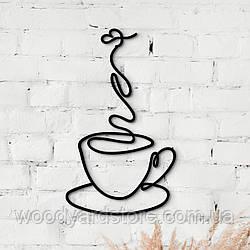 Декоративне панно з дерева. Декор на стіну. Лінійне панно Аромат Кави чи Чаю?