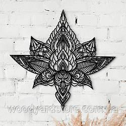 Декоративне панно з дерева. Декор на стіну. Лотос