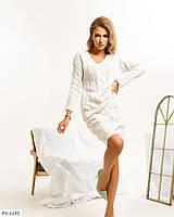 Эффектный теплый комфортный вязаный костюм косички облегающая юбка карандаш и кофта Размер: 42-46 арт. с1