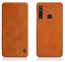 Кожаный чехол (книжка) Nillkin Qin Series для Samsung Galaxy A9 (2018)