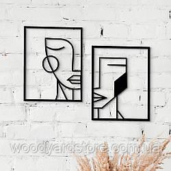 Декоративне панно з дерева. Декор на стіну. Геометрія Облич