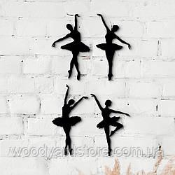 Декоративне панно з дерева. Декор на стіну. Балерини
