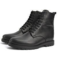 Кожаные зимние ботинки мужские на меху черные есть большие размеры Rosso Avangard Whisper 2 All Black BS