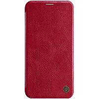 """Кожаный чехол (книжка) Nillkin Qin Series для Apple iPhone 11 Pro Max (6.5"""")  Красный"""