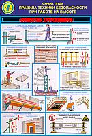 Стенд по охране труда «Правила безопасности при работе на высоте. Средства ограждения»