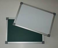 Доска магнитная - маркерно-меловая 22х33 см двухсторонняя