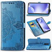 Кожаный чехол книжка Art Case для Xiaomi Redmi K30 / Poco X2 Искусственная кожа, Синий