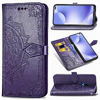 Кожаный чехол книжка Art Case для Xiaomi Redmi K30 / Poco X2 Искусственная кожа, Фиолетовый