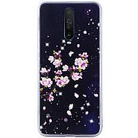 Чехол Fantasy с глянцевыми торцами для Xiaomi Redmi K30 / Poco X2 Пузырьки и цветы Цветение