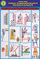 Стенд по охране труда «Правила безопасности при работе на высоте. Лестницы. Отдельные виды работ»