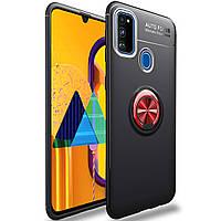 TPU чехол Deen ColorRing під магнітний тримач (opp) для Samsung Galaxy M30s