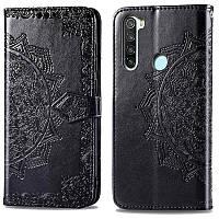 Кожаный чехол книжка Art Case для Redmi Note 8T Черный